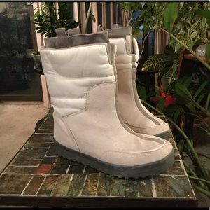 LANDS' END SUEDE QUILTED INSULATED BOOTS 7.5B
